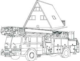 Coloring Pages Fire Truck Fire Truck Coloring Sheet Free Fire Truck