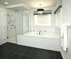 subway tile bathtub bathtub grout or caulk winsome caulking around subway tile bathroom black ing and