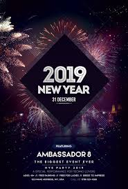 New Year Flyers Template Happy New Year 2019 2 Free Psd Flyer Template Free Psd