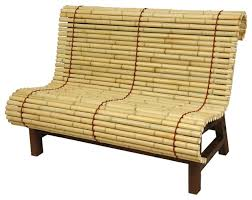 curved japanese bamboo bench accent and storage benches bamboo wood furniture