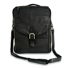 men s leather messenger bag out of office in black