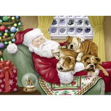 Bulldog Christmas Cards | The Danbury Mint