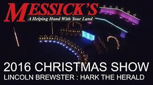 Messicks Light Show Messicks 2016 Christmas Light Show Video Lincoln Brewster Hark The Herald