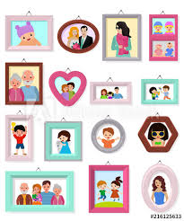 frame vector framing picture or family photo for wall decoration ilration set of vintage decorative border