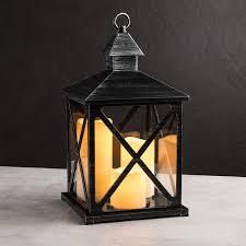 metal lighting. KSP Flicker \\\u0027Metal Look\\\u0027 Large LED Plastic Lantern (Black) Metal Lighting