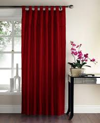 gc sequin swirl panel tab top curtains red