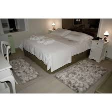 reduced natural real wolf bedroom rugs set