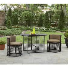 small space outdoor furniture. better homes and gardens murray hill 3piece small space aluminum set walmartcom outdoor furniture u