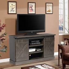 wowoo place sliding barn door tv stand