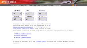 Misses Size Conversion Chart Visit Dresssizes Org Conversion Chart For Us Uk