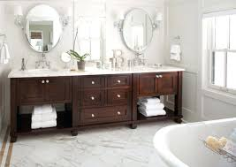 double sink bathroom mirrors. oval bathroom vanity two mirrors above double sink facing freestanding bathtub shaped
