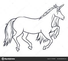 Disegni Animali Di Fantasia Illustrazione Di Magico Unicorno