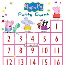 Peppa Pig Potty Training Reward Chart Printable Peppa Pig Potty Training Chart Potty Training Incentive