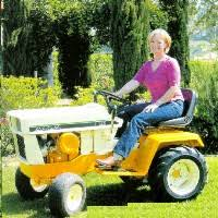 cub cadet garden tractors. Kate Will Takes A Spin On Her Very Nicely Refurbished Cub Cadet Model 109. Garden Tractors