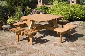 8 seater picnic table plans