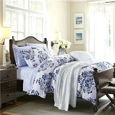 blue white bedding navy blue and white pattern flower print abstract design blue and white bedding