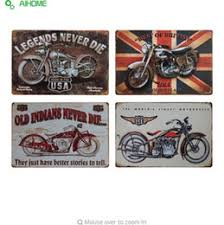 aihome motorcycles metal plate vintage home decor tin signs bar restaurant cafe decor metal sign painting plaque wall stickers on motorbike metal wall art uk with shop tin motorcycle wall art uk tin motorcycle wall art free