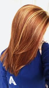 Red Hair Blond Highlights