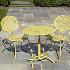 home and interior astounding cafe patio set of chairs wrought iron marble mosaic new ideas