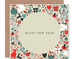 Happy New Year Card Etsy