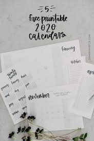 2020 Year At A Glance Calendar Template Free Printable 2020 Calendars Are Here 5 Formats Lemon