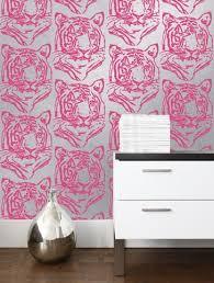 kid wallpaper usa mylar. Star Tiger Mylar Wallpaper In Silver Neon Design By Aimee Wilder Kid Usa O