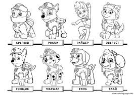 Sensational Design Free Paw Patrol Coloring Pages Everest Page Nazly