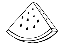 Watermelon Fruit Coloring Pages Fruits Coloring Pages Of