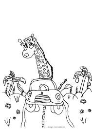 Disegno Da Colorare Per Bambini La Giraffa Motorizzata Disegni Con
