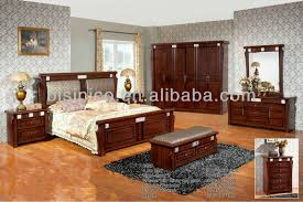 Beautiful Vintage Design Panel Bed W Back Cushion,Classical Solid Wooden Bedroom Set,Wooden  Bedroom