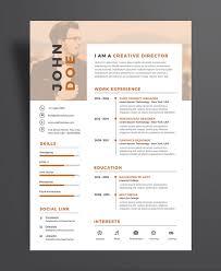 Creative Executive Resume Cv Design Template Psd File Good