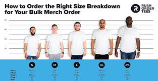 Rush Order Tees Size Chart T Shirt Sizes For Groups How To Order The Right Sizes
