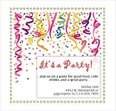 Birthday Party Invitation Template Word Free Maker Surprise