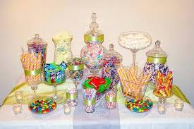 candy jars set lace wedding