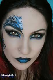 blue secret blue masquerade makeup tutorial costume chage this to green