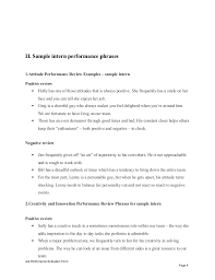 sample intern performance appraisal evaluation form page 7 8 ii sample