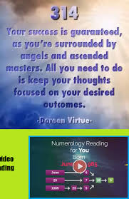 Angel Number Chart Numerology Angel Number 314 Meaning Numerology