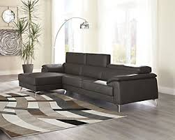 brown leather sectional couches. Plain Brown Large Tindell 2Piece Sectional Gray Rollover To Brown Leather Sectional Couches