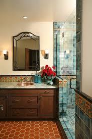 Spanish Revival Restoration mediterranean-bathroom