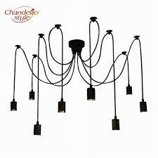 vintage retro chandelier diy led spider chandelier lighting ceiling hanging light flush mount edison lamp for