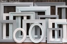 interior gallery wall frames set amazing shabby chic picture frame upcycled hand painted inside 4