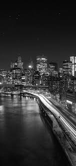 City Lights Wallpaper Black And White Night City View Lights Iphone X Wallpaper City Lights