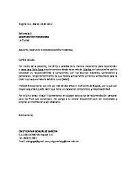 Ejemplo De Cartas De Recomendacion Laborales Cartas De Recomendaciones Personales Ejemplos Leyme