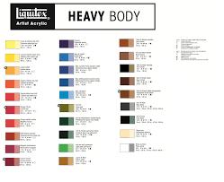 High Quality Liquitex Acrylics Color Chart Liquitex Acrylic