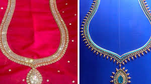 Embroidered Jacket Designs Simple Embroidery Work Blouse Back Neck Designs Blouse Designs For Back Neck For Silk Sarees