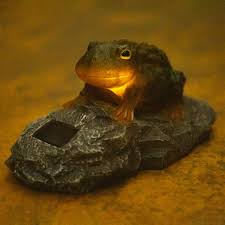 Frog Lights Led Solar Powered Resin Frog Toad Light Led Garden Ornament