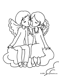 Coloriages Coloriage Gratuit Anges Saint Valentin Afu C W Dessin