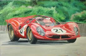 ferrari 330 p4 race car oil painting by ant787
