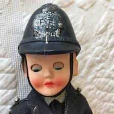 Vintage Police Uniform on Boy Doll. Celluloid Head Hands and | Etsy