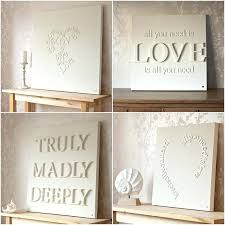 diy canvas wall art words